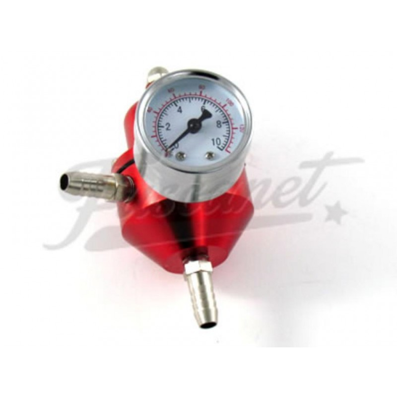 Regulador de presión combustible variable Rojo con reloj