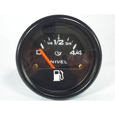 Indicador de nivel de combustible 52mm negro 40 ohm